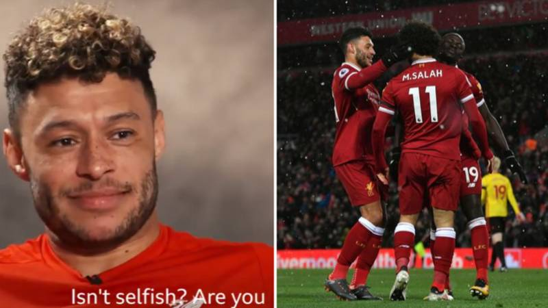 Alex Oxlade-Chamberlain Has Brilliant Response To Question, 'Is Mo Salah Selfish?'
