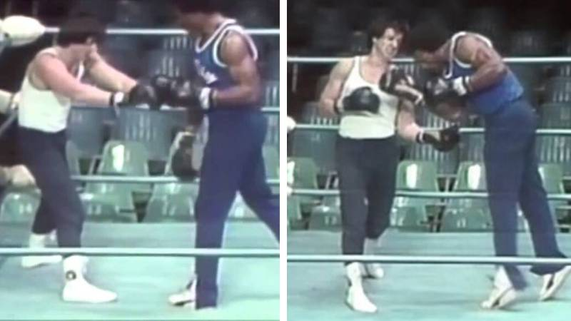 Rare Footage Shows How Sylvester Stallone And Carl Weathers Choreographed The Rocky/Creed Fight