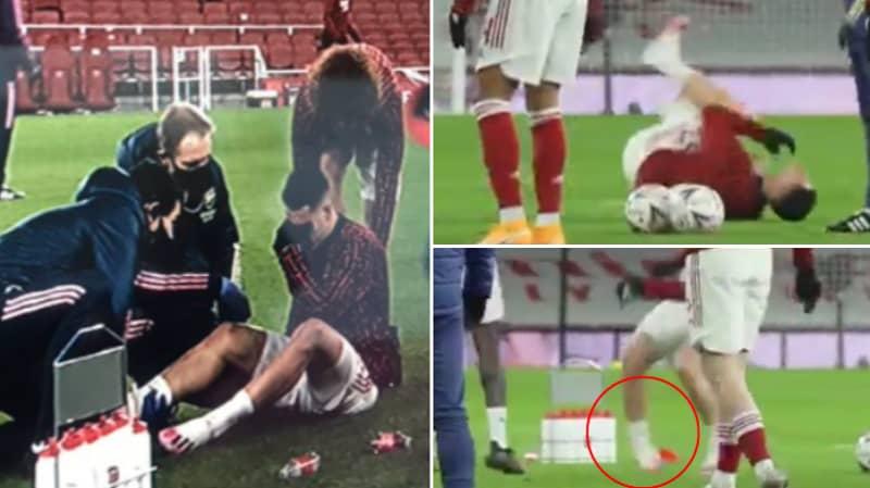 Gabriel Martinelli Goes Down Injured In Arsenal Warm Up