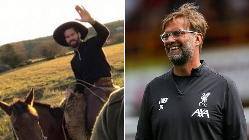 Alisson Sent Hilarious Picture To Jurgen Klopp When Liverpool Boss Checked Up On Him