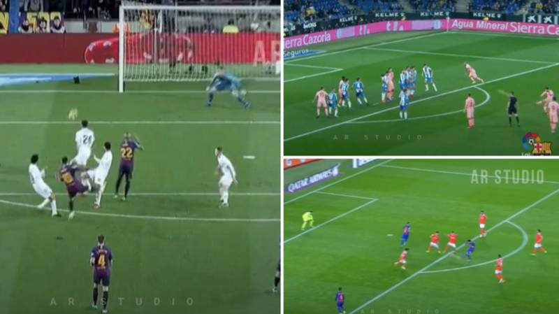 Compilation Of Lionel Messi Scoring From Outside The Box Is Footballing Perfection