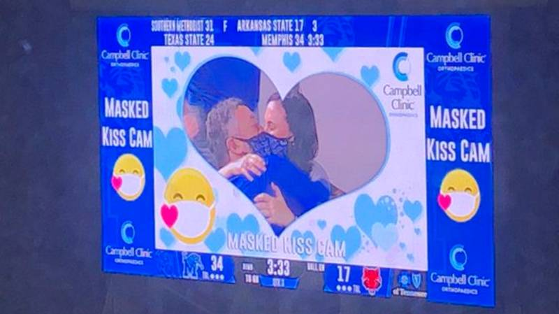 'Masked Kiss Cam' Introduced At U.S. College Football Game