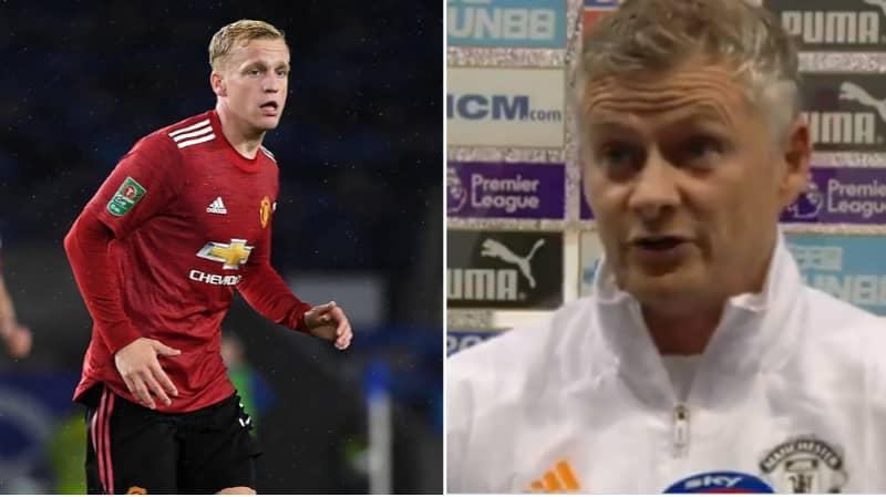 Ole Gunnar Solskjaer Hits Back At Question Over Donny van de Beek's Game-Time At Manchester United