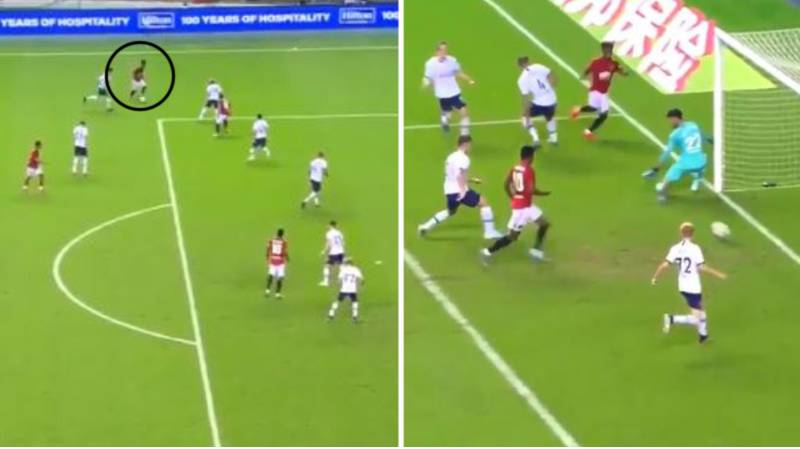 Angel Gomes Scores First Goal For Manchester United Against Spurs