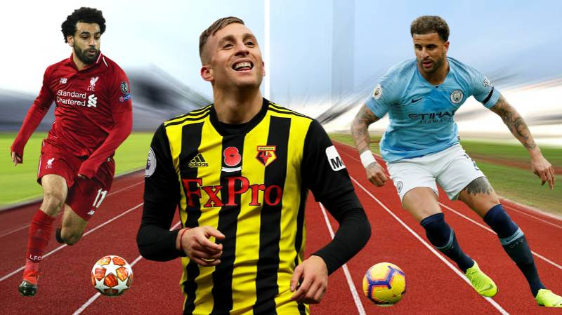 The Premier League's 10 Fastest Players Of The Season Revealed