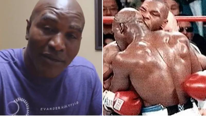 """Evander Holyfield Explains Why He's """"Glad"""" Mike Tyson Bit His Ear"""