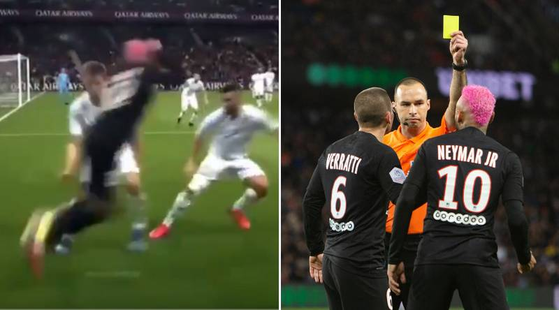 Neymar Was Booked For Attempting A Rainbow Flick In PSG's 5-0 Demolition Of Montpellier