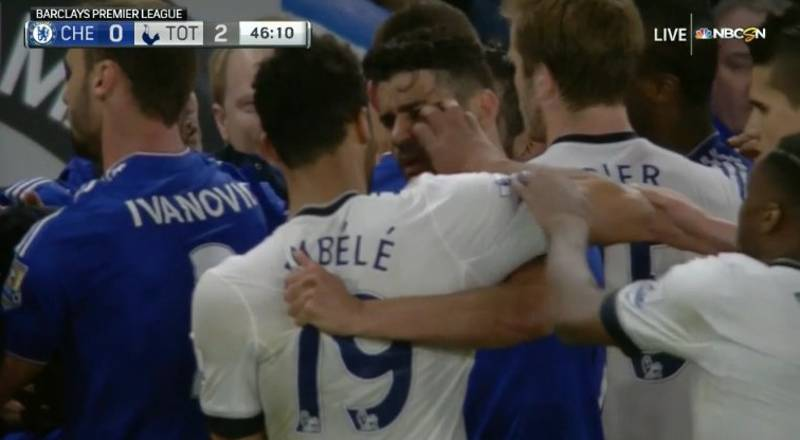 Mousa Dembele Facing Huge Ban For Diego Costa Incident