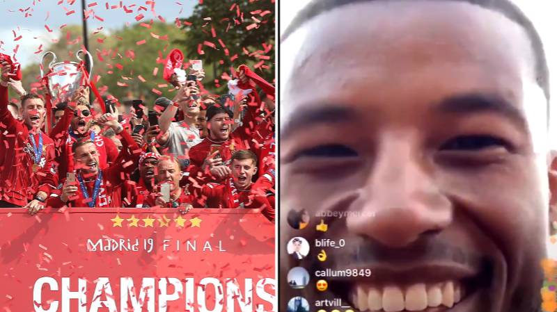 Gini Wijnaldum Dropped His Phone Off The Liverpool Parade Bus