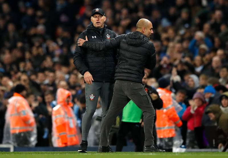 Pep Guardiola Trolls Time-Wasting Southampton Boss Hassenhuttl With Some Hilarious Sh*thousery