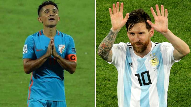 Sunil Chhetri Overtakes Lionel Messi As Second Highest Active International Goalscorer