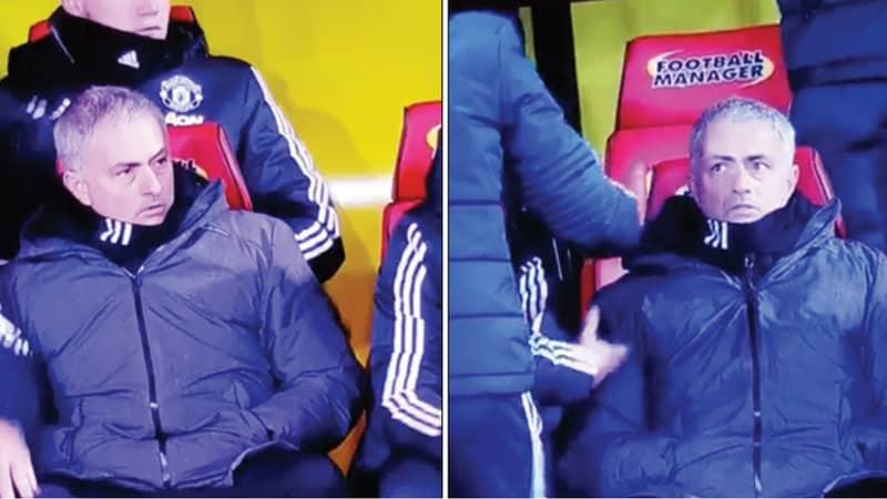 Watch: Jose Mourinho's Incredible Reaction To Ashley Young's Free-Kick