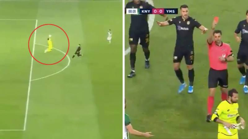 Konyaspor Goalkeeper Serkan Kirintili Records Fastest Red Card In Turkish Football History After Just 13 Seconds