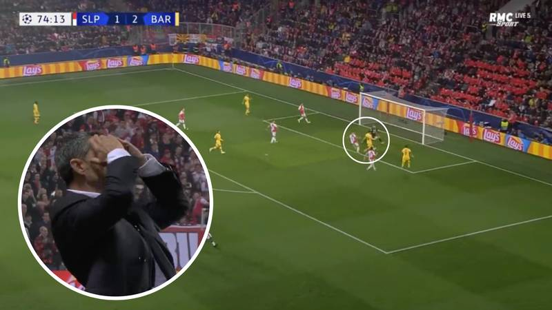 Lionel Messi Missed A Golden Chance Against Slavia Prague In The Champions League