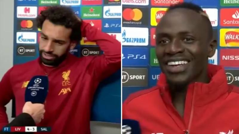 Mo Salah And Sadio Mane Joke About Andy Robertson 'Finally' Scoring