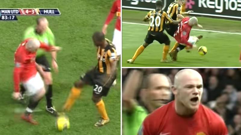 A Skinhead Wayne Rooney Contesting A Drop-Ball Against Hull City Is Genuinely Terrifying
