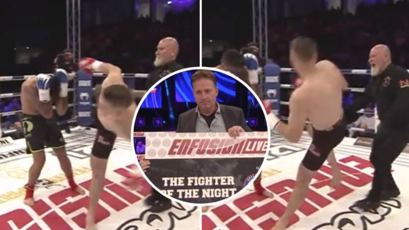 70-Year Old Kick-Boxing Referee Wins 'Fighter Of The Night' After Taking Spinning Kick