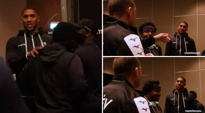 Unseen Footage Reveals Anthony Joshua and Kubrat Pulev Continued War Of Words Back Stage