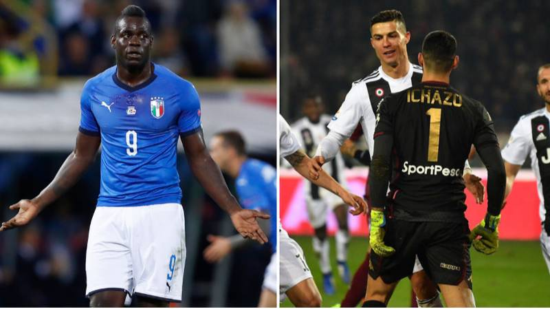 Mario Balotelli Reacts To Cristiano Ronaldo's Controversial Goal Celebration