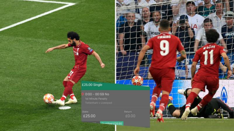 Football Fan Put £25 On For There To Not Be A Penalty Inside First Minute Of Champions League Final