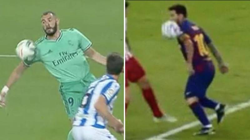 Fans Call Out Double Standards Comparing Karim Benzema And Lionel's Messi 'Handballs'