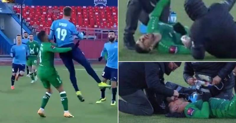 Footballer KO'd By Brutal Challenge But Manager Says It Only Would've Been Red Card If Player Had 'Died'