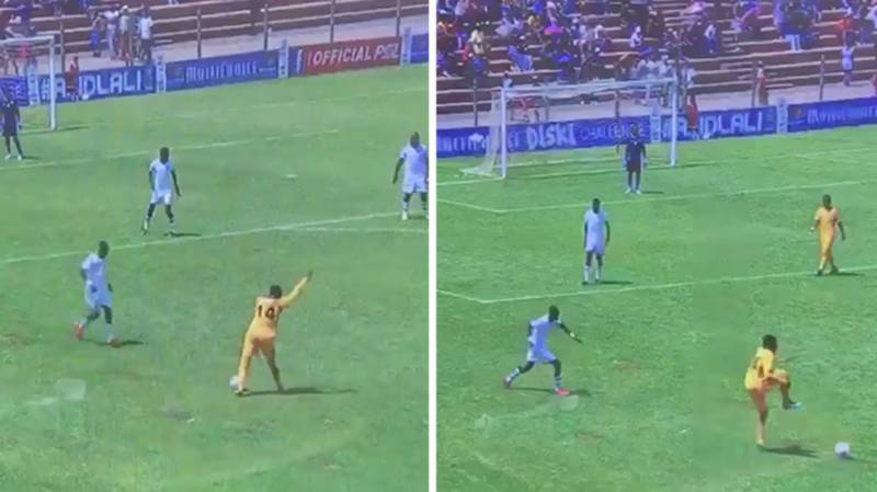 Kaizer Chiefs Reserves Were Trolling Their Opposition By Dabbing On The Ball