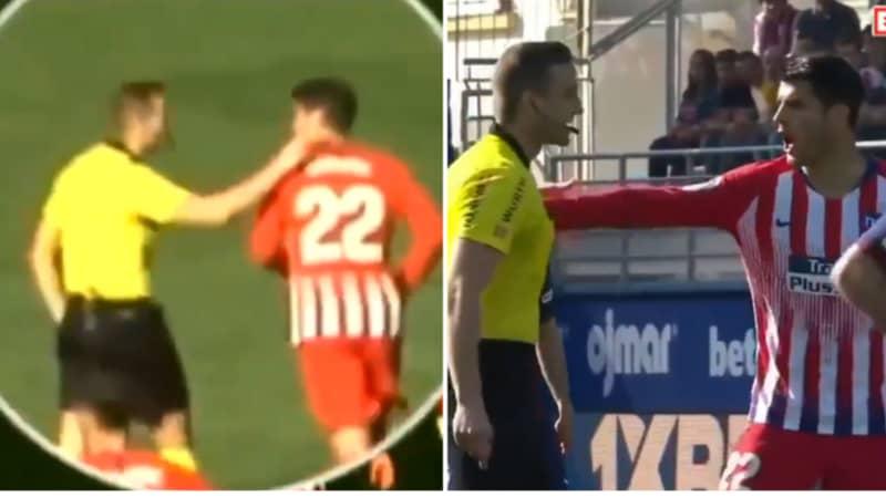 La Liga Referee Won't Referee Next Two Games After Putting His Hands On Alvaro Morata
