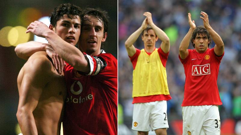Gary Neville Names Cristiano Ronaldo And Carlos Tevez In Overseas Manchester United XI