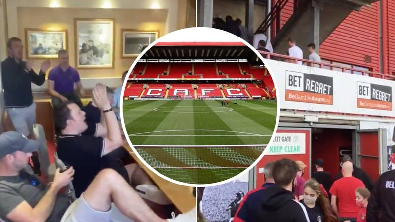 Charlton Athletic Fans Protest Inside The Valley Stadium And Refuse To Leave