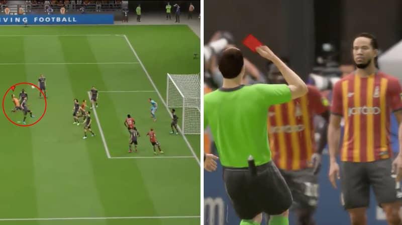 Gamer Baffled After Getting Sent Off For Missed Shot On FIFA 20