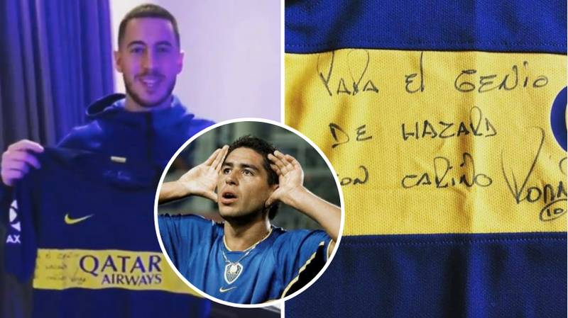Eden Hazard Paid Tribute To His Idol Juan Román Riquelme Against West Ham