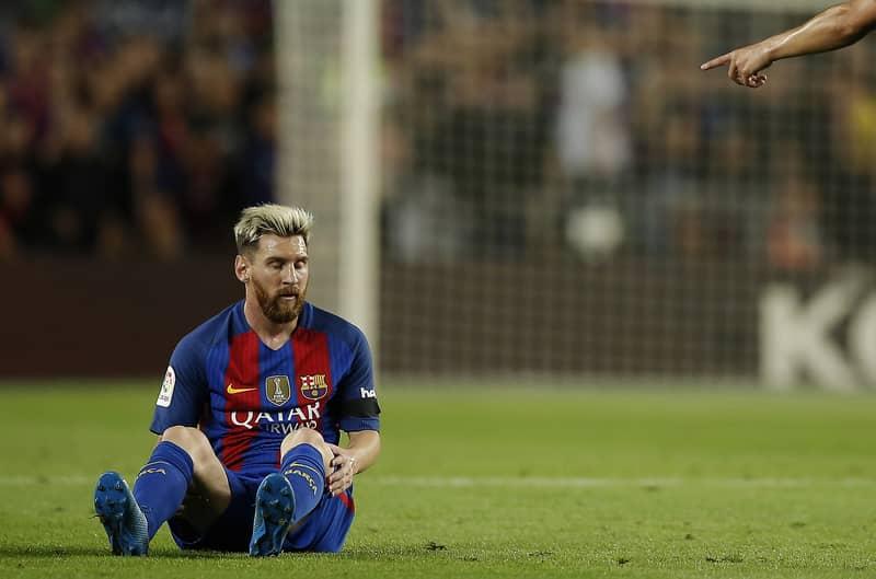 Borussia Monchengladbach Send Injured Lionel Messi A Message