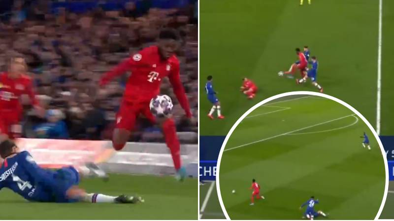 19-Year-Old ​Alphonso Davies Ran The Show At Stamford Bridge, Produces Unreal Assist