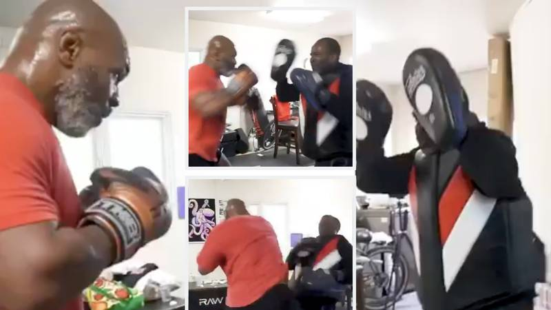 53-Year-Old Mike Tyson Shows Frightening Power And Speed In New Training Footage