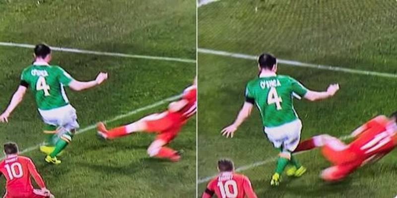 WATCH: Gareth Bale Almost Breaks John O'Shea's Leg