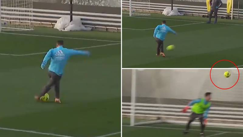Eden Hazard Scores Ridiculous Rabona In Real Madrid Training As Return Inches Closer