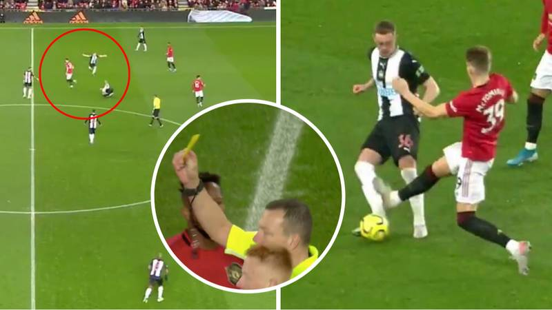 Scott McTominay Given Fastest Ever Premier League Booking But Lucky To Avoid Red Card