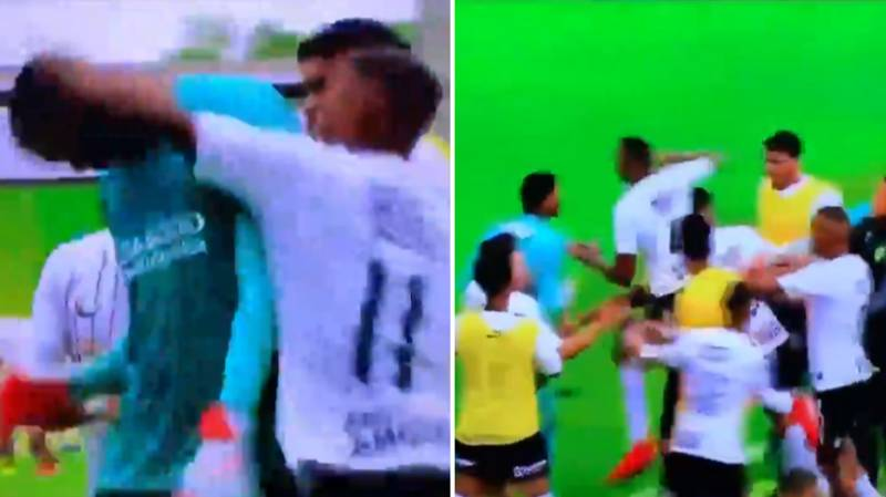 Corinthians Under 20's Lose To Flamengo, Proceed To Attack Opposition Goalkeeper