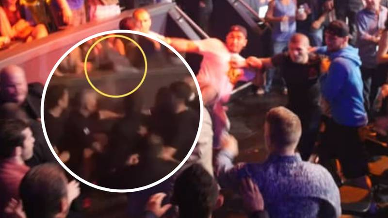 When Nick Diaz Launched A Drink At Khabib And Started A Mass Brawl