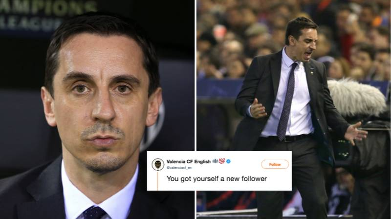 Valencia CF Brutally Troll Gary Neville On Twitter When Responding To A Fan