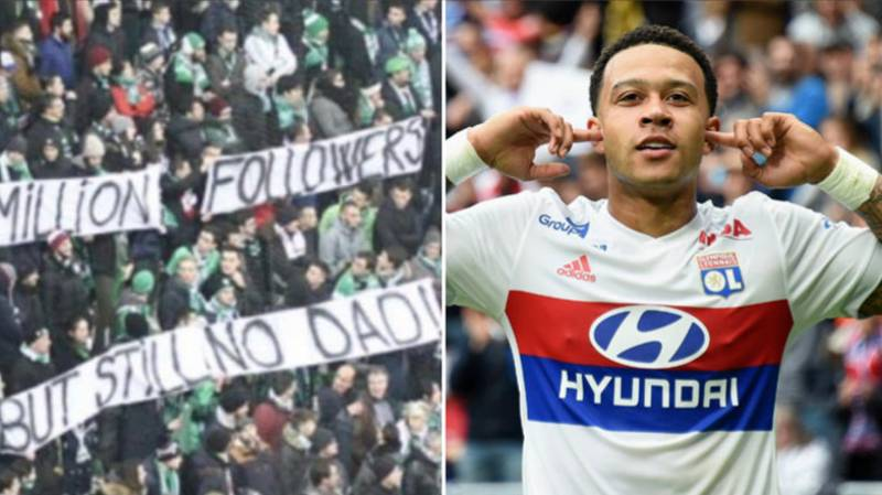 Memphis Depay Brilliantly Shuts Down St Étienne Fans Who Cruelly Mocked Him