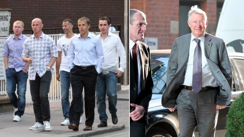 The Class Of '92 Surprise Sir Alex Ferguson With The Best Christmas Present