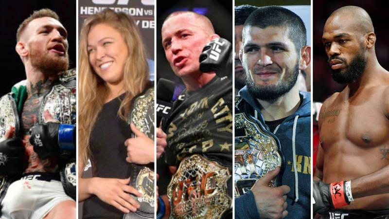 The 50 Greatest MMA Legends Of All Time Have Been Ranked By Fans