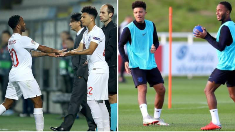 Jadon Sancho Spun Raheem Sterling So Bad In Man City Training He Nearly Injured His Back