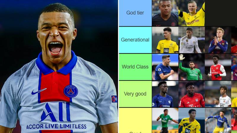 The World's Best Youngsters Have Been Ranked From 'God Tier' To 'Eh'