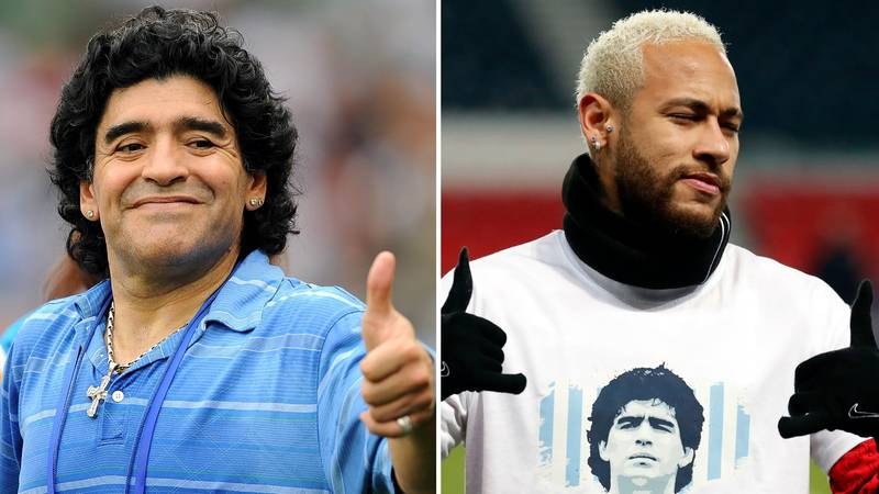 Neymar Shares Incredible Gesture Made By Diego Maradona When Meeting Him As A Teenager
