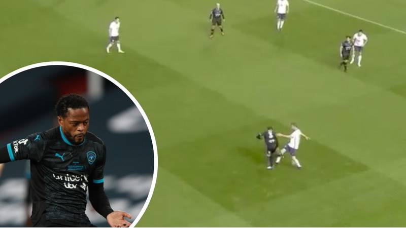 Patrice Evra Pulls Off A Beautiful Nutmeg During Soccer Aid