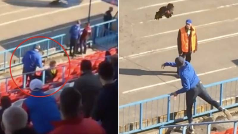 Russian Fan Throws Live Rooster At Manager In Second Division Game