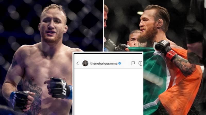 The Private Message Justin Gaethje Sent To Conor McGregor Proves He's The Craziest Fighter In The UFC